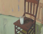 Chair with Glass of  Milk   -   No. 520   -    artbyjuarez