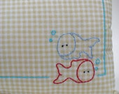 Pisces Baby Birth Pillow in beige