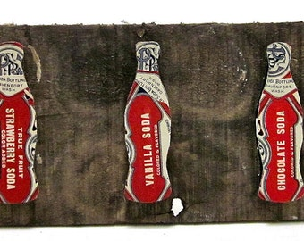Soda Bottles - Upcycled Vintage Soda Label Collage