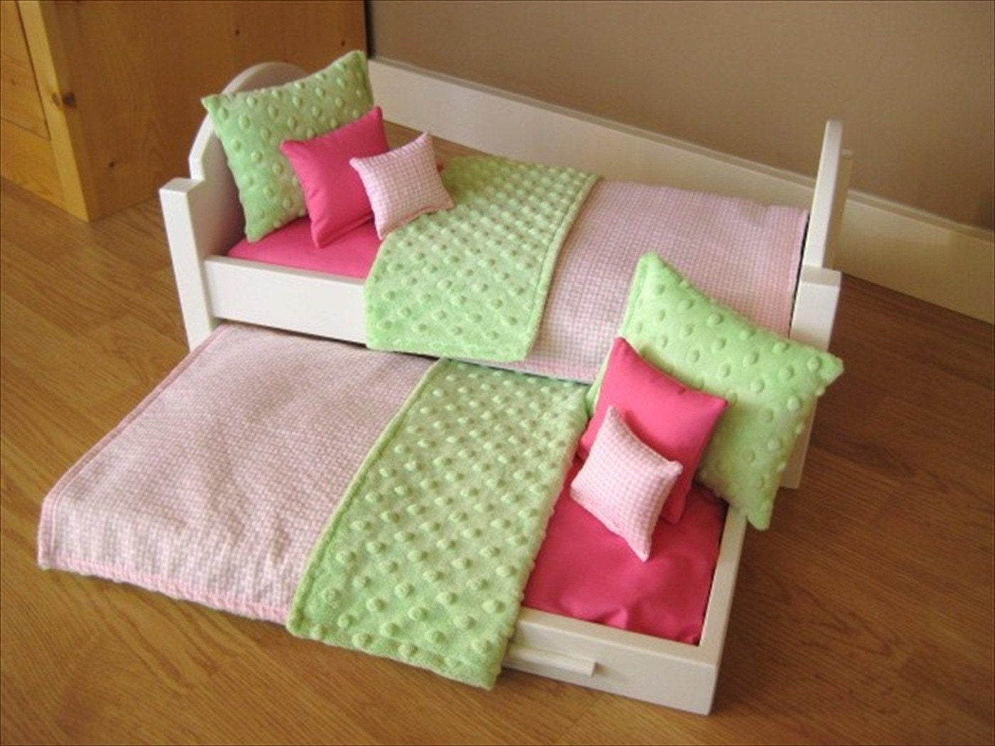 Doll Bedding For American Girl Doll Bunk Bed Or Trundle Bed 10
