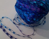 LAST 2 Majestic Ladder Ribbon Yarn by Ice Yarns Turquoise, Purple, Lavender