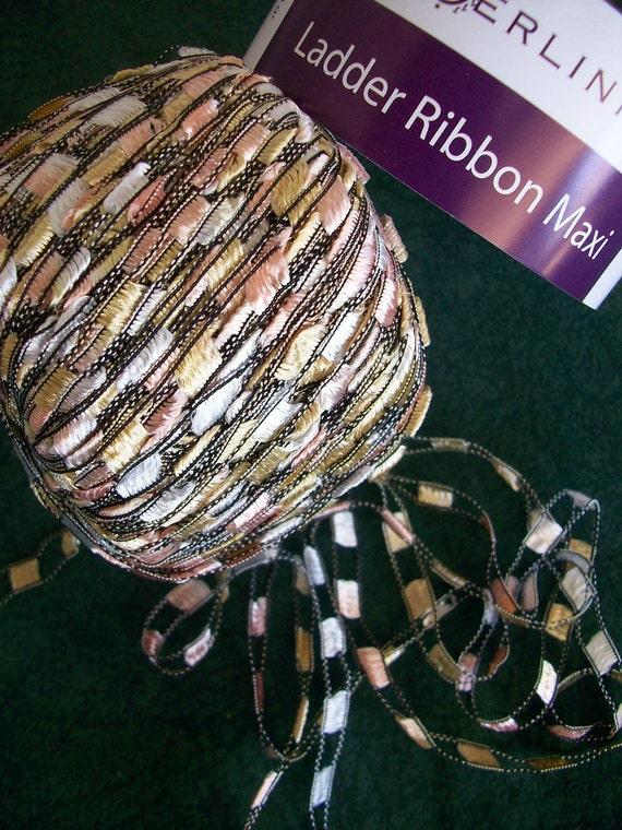 Berlini Ladder Ribbon Maxi Yarn Color Freshwater Pearls