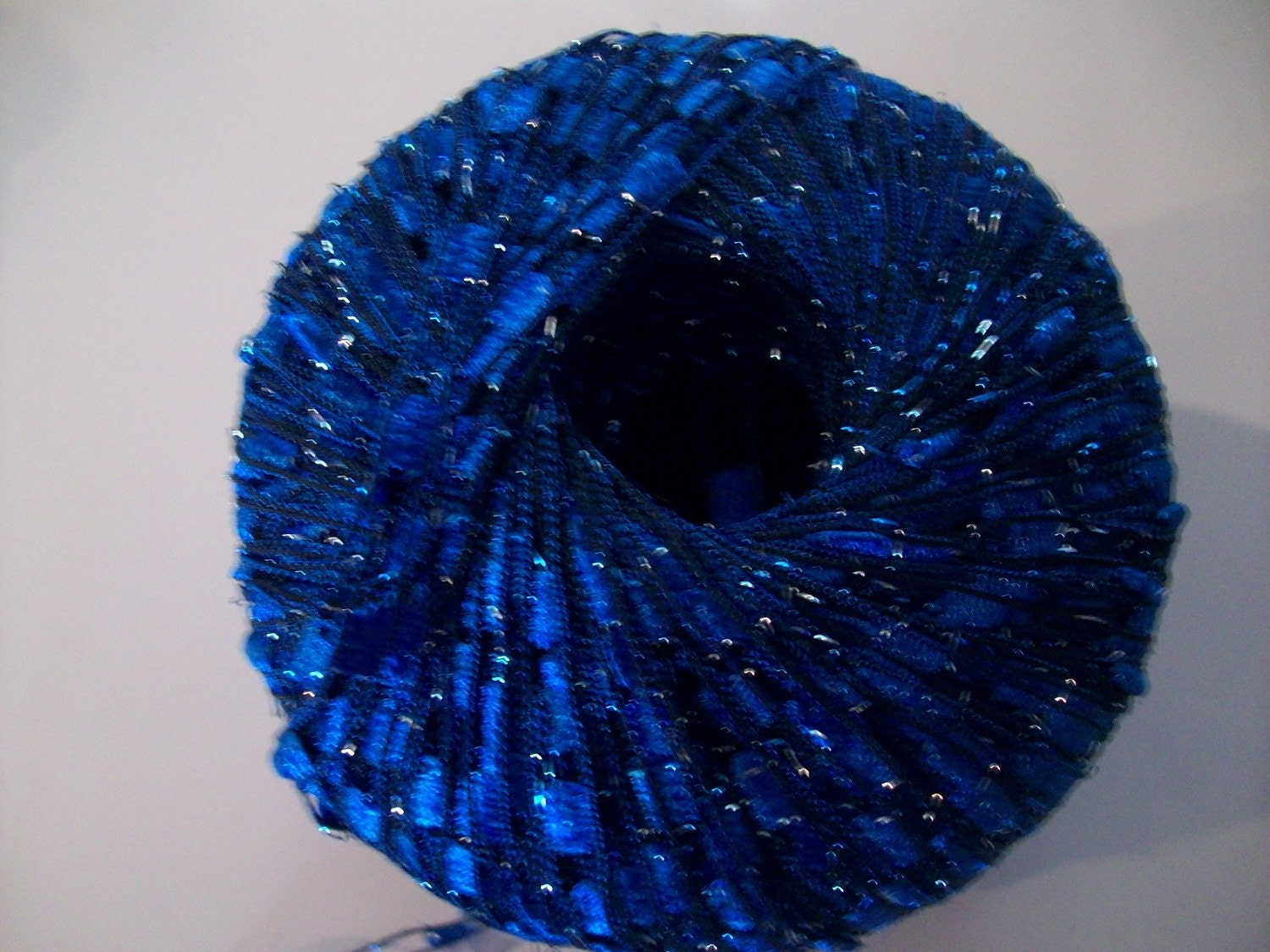 Ribbon Yarn : Metallic LIBERTY BLUE Ladder Ribbon Yarn by ICE Yarns by CraftEZ
