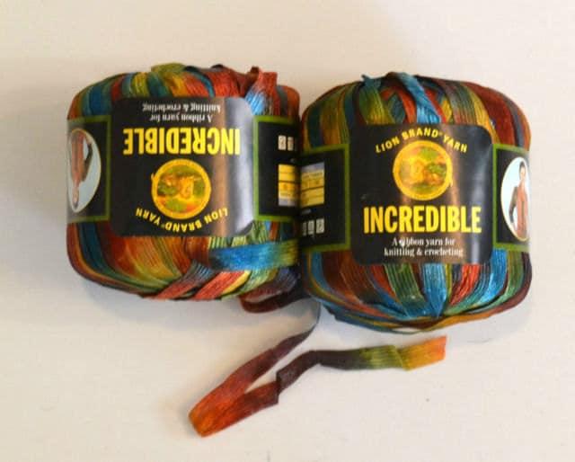Lion Brand Incredible Ribbon Yarn Copper Penny