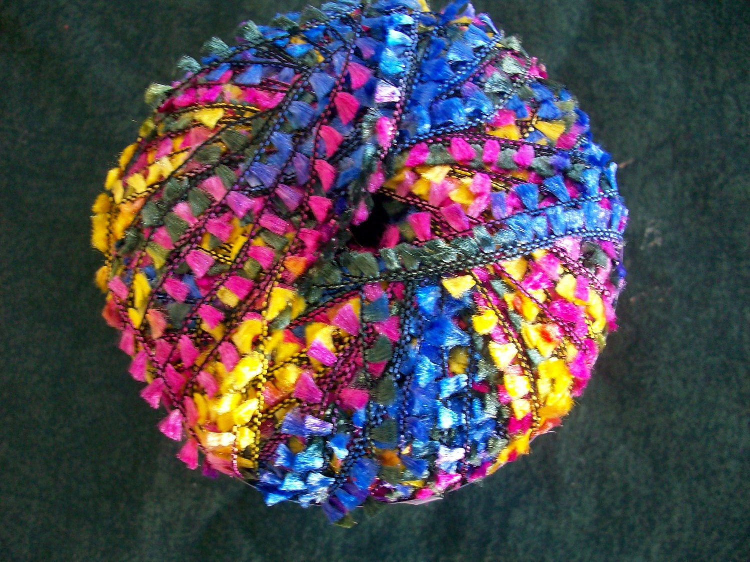 Novelty Yarn : Final Reduction Multi Color Spice Flag Novelty Yarn by by CraftEZ