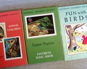 Vintage National Audubon Society Nature Program Boxed Set of Educational Books 1959