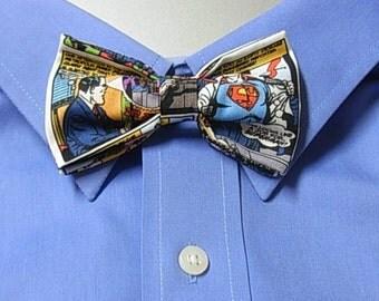 Superman Comic Clip on Bow Tie