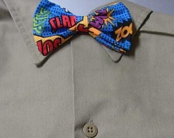 Comic Clip on Bow Tie