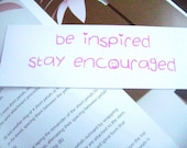Bookmarks, Set of 3 - Be Inspired, Stay Encouraged