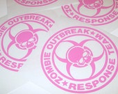 ZOMBIE OUTBREAK RESPONSE Team Skull Logo Vinyl Car Decal Sticker