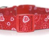 Sweetheart,,,,Custom Red Hearts Dog Collar