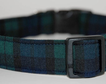 Blackwatch, Scottish Tartan Dog Collar  by Neck Candy Collars