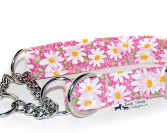 The Chain Martingale Collar in your choice of Fabric  1/2in, 3/4in, 1 inch, 1.5 inch or 2 inch widths