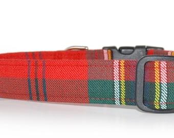 MacLean , Authentic Scottish Tartan Dog Collar