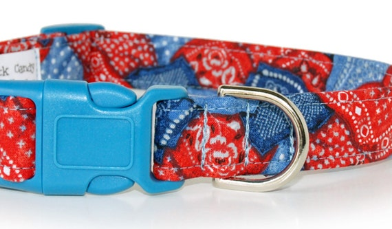 A Little Bit Country,,,,,,,,Bandana Print Custom Dog Collar