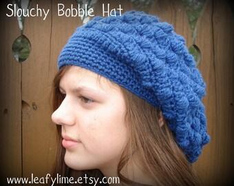 Slouchy Crochet Bobble Hat