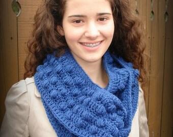 Crochet Bobble Infinity Scarf