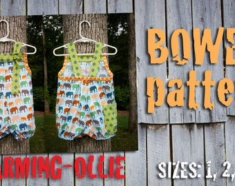 Charming-Ollie KnOt BOWEN shortall OvErALL bubble pdf pattern 1 2 3 4 bOy GiRL