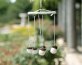 White acorns wind chime mobile weddings bridal decoration indoor home decor ornament family gift - teamcamelot fpconspiracy