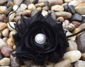 Shabby Chic Vintage Style Black Headband - Baby Headband - Newborn Headband - Infant - Toddler - Girl - Photo Prop