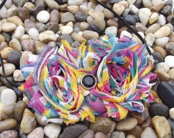 Headband Shabby Chic Multicolor Rainbow Flower Headband - Baby Headband - Newborn Headband - Infant - Toddler - Girl - Adult - Photo Prop