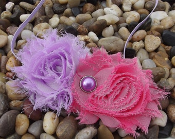 Shabby Chic Pink and Purple Lavender Flower Headband - Baby Headband - Newborn Headband - Infant - Toddler - Girl - Adult - Photo Prop