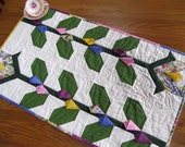 Spring Fever 20x34 quilted table runner in spring colors