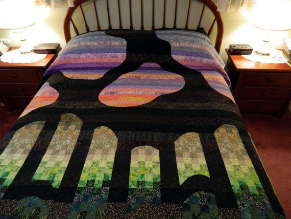 Custom Design a Unique Handcrafted King Queen or Twin Quilt with me
