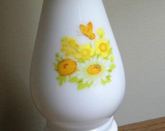 Yellow Summer Flowers Candlestick Avon Buttercup candleholder