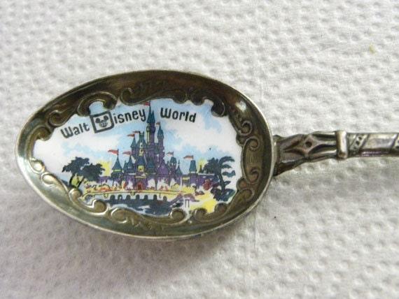 Disney World Spoon Cinderellas Castle silver collectible Walt Disney Productions
