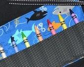 Sharks Boys Birthday Party Favor Crayon Roll - Boys Christmas Gift - Little Boys Gift - Crayon Holder - Crayon Keeper