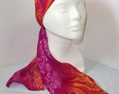 RESERVED FOR TENZINWANGMO Vibrant Floral, Fan, and Paisley Scarf, Head Scarf, Headwrap, Scarf Headband
