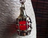 Marine Lantern Necklace by SBC, Rustic Brass Lantern Pendant, Antique Copper Chain, Nautical Necklace, Lost at Sea