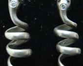 Sterling Silver Coil Snake earrings