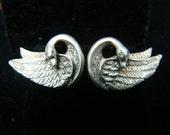 Sterling Silver Swan earrings