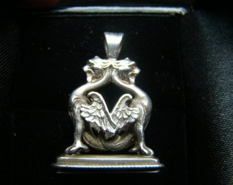 Griffin sterling silver pendant