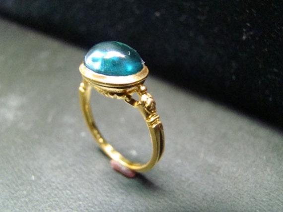 Amazing London Blue Topaz classic ring