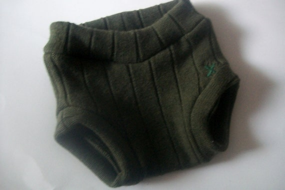 "Wool Soaker - ""Green Forest"" (M)"