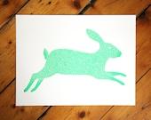 Rabbit screen print - new A4 edition