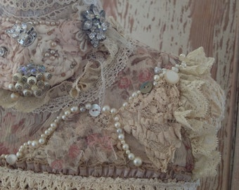 Custom Mannequin/Dress Form Shabby Chic Lace Covered Mannequin...vintage lace, ribbons, costume jewelry and more OOAK