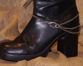 Steampunk Silver Colored Multi Strand Boot Chain