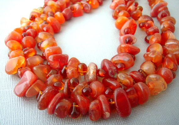 orange gemstone necklace,  agate statement necklace,  chunky,  agate stone