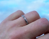 Silver Renaissance Stacking Ring