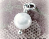 Pearl on Sterling Silver Ball Headpin Add-On