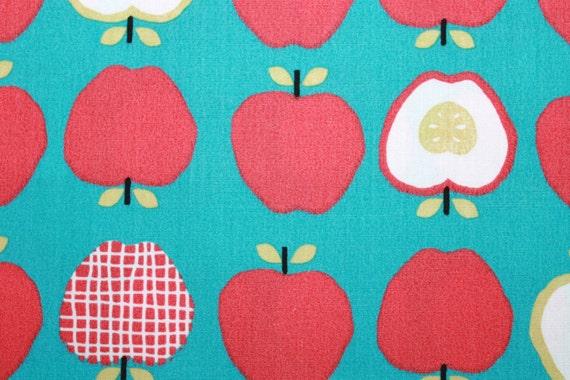 SALE 1 Yard Organic Cotton Fabric - Monaluna Taali Mixed Apples LAST ONE