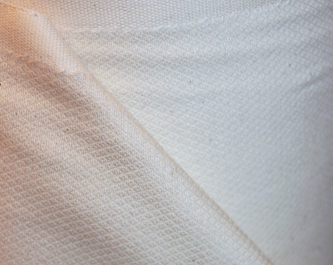 Prewashed 3 Yards Organic Unbleached Birdseye Cotton Fabric