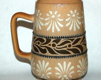 Antique Doulton Lambeth Tankard mug 1881