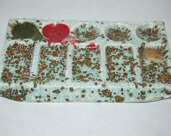 Vintage speckled Ceramic artist Pallet