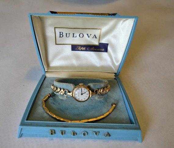Vintage 1959 10k rolled gold plate Ladies Bulova by ...