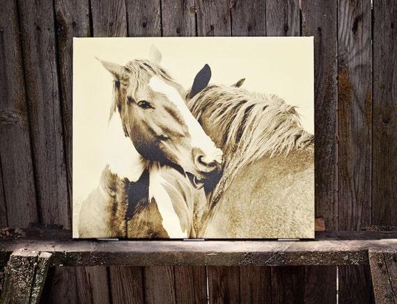 Canvas Sale, Large Canvas Photo, Horse Art, Large Art, Horse Photography, Sepia